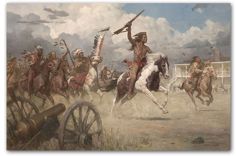 The Charge of Crazy Horse on Fort Laramie, 1864