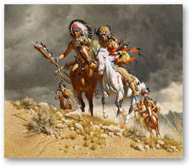Cheyenne War Party -  by Frank McCarthy