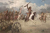 The Charge of Crazy Horse on Fort Laramie