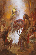 Transferring the Medicine Shield - by Howard Terpning